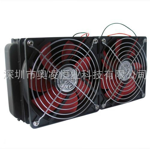 Prix pour SXDOOL De Refroidissement 240 MM D'eau de refroidissement radiateur double fans Pour évacuation de l'eau de l'ordinateur radiateur vent fort Recommander!