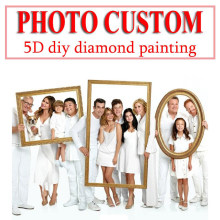 Photo Custom 5D Diy ภาพวาด(China)