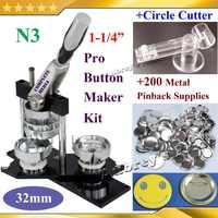 "NIEUWE Pro N3 1-1/4 "": 32mm Kenteken Maker Machine Verstelbare Cirkelfrees 200 Sets van Metal Speld Levert"