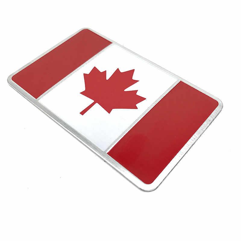 カナダ国旗メタルデカール車の窓トラックバンパーモトクロスオートバイ防水自動車アクセサリー