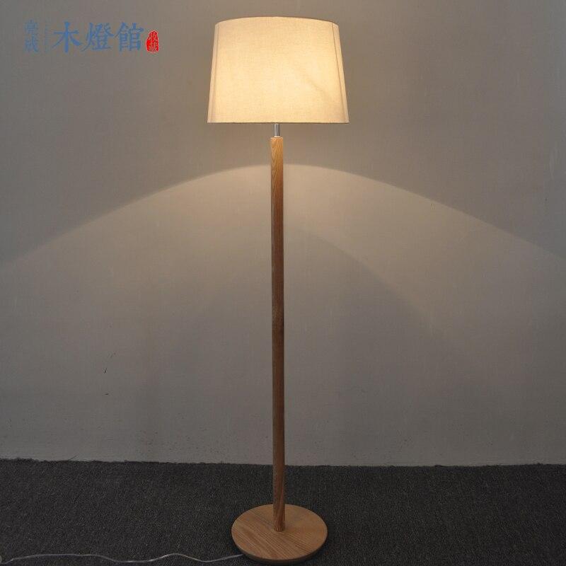 A1 Nordic eenvoudige massief houten voet staande lamp Japanse ...