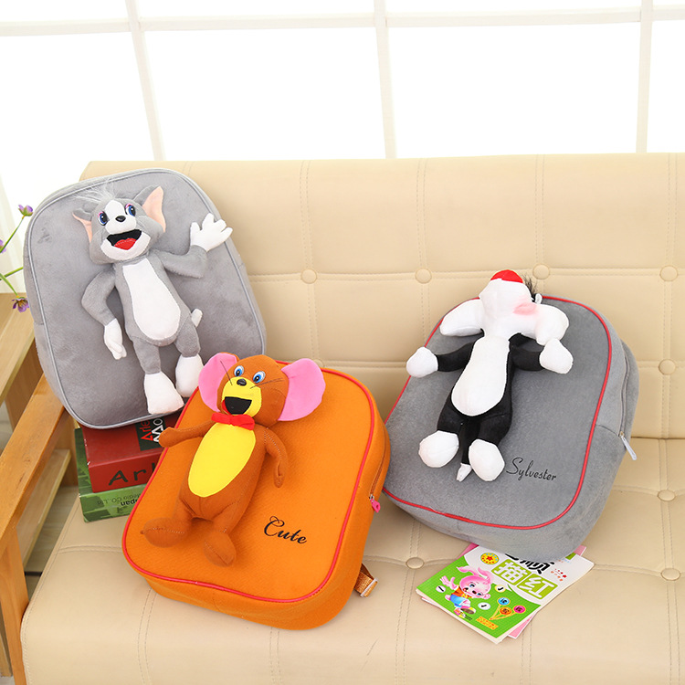 2018 New Real School Bags For Cartoon Children Bookbag Kindergarten Backpack 1 3 Years Old Little And Shoulder Baby Plush Toys