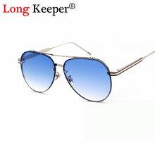 Larga Arquero Oval Cristal Degradado de Color de Las Mujeres de Los Hombres gafas de Sol Doble Haz gafas de Sol Gafas gafas de sol hombre UV400 J1092M