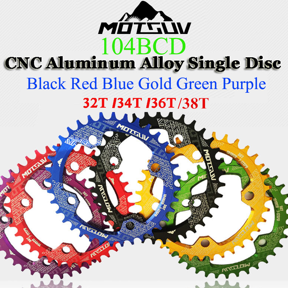MOTSUV bicycle crank 104BCD 32T/34T/36T/38T disc tray chainring Shimano MTB bicycle crank circular crank bicycle parts