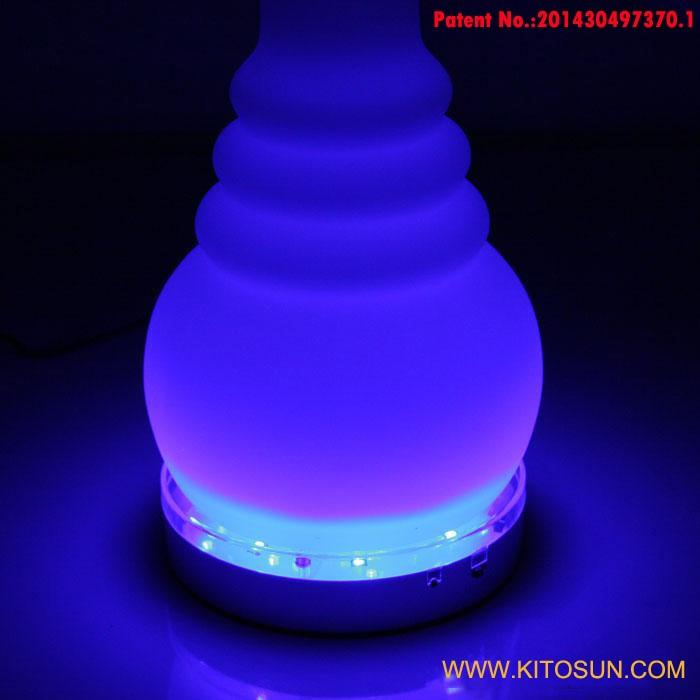 10 PCS/Lot Free Shipping MultiColors Remote Controller Hookah Light  6inch Led Wine Beer Shisha Lights Base For Hookah