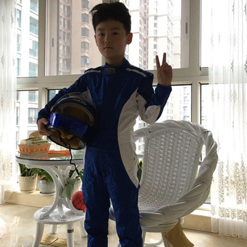Children Auto Go Karts Racing Suit child motorbike motorcycle Race Overalls Nascar Motor Kids Car Racing Suit kids combination