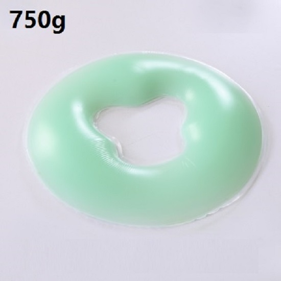 CAMMITEVER 750G Highest Grade A Health Care Silicon <font><b>Spa</b></font> <font><b>O</b></font> Shape Pillow <font><b>Spa</b></font> Gel Pad Face Rest Body Back Massage Overlay Silicone