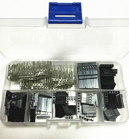 310PCS/LOT 2.54mm Plastic Dupont Jumper Wire Kit With Box 1P 2P 3P 4P 5P 6P 2*4P Wire Plug Cable Housing Female Pin Connector акустические кабели atlas hyper bi wire 2 to 4 5 0m transpose z plug gold