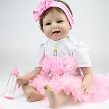 55cm Reborn lalki dla dzieci winylu silikonowe realistyczne żywe miękkie dzieci maluch noworodka zabawki dla dzieci chłopiec dziewczyna urodziny prezent bożonarodzeniowy