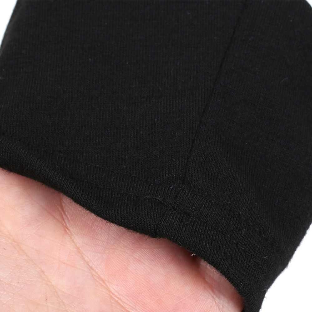נשים אפור ליל כל הקדושים חולצה מכתב PrintO צוואר שלושה רבעון קרוע שרוול חולצה סתיו מזדמן למעלה נקבה T חולצה חולצות טי