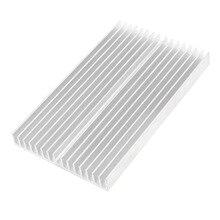 Серебряный Тон Алюминиевый Радиатор Радиатор Радиатор Радиатор 100x60x10 мм
