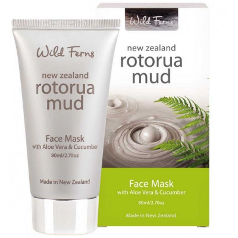 Parrs Rotorua Mud Face Mask with Aloe Vera & Cucumber restore skin tone & elasticity, face lifting firming soothing moisturizing