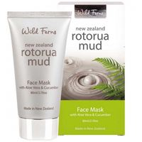 Parrs Rotorua Mud Face Mask with Aloe Vera & Cucumber restore skin tone & elasticity, face lifting firming soothing moisturizing