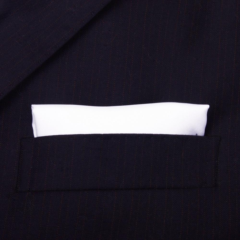 100% dabīgs zīda roku darbs, klasiskās baltas kabatas lakatiņš, - Apģērba piederumi - Foto 3