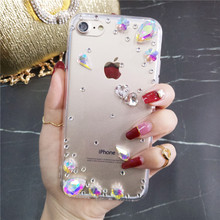 XINGDUO Bling Rhinestone Crystal Diamond Soft Back Phone Jewelled Case Cover For Samsung S10 Lite S8 S9 S6edge Plus Note 9 8 5