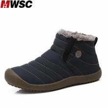 MWSC Women's Winter Boots with Fur Waterproof Fabric Sapato Masculino Plush Inside Insoles Warm Ankle Boots Shoes