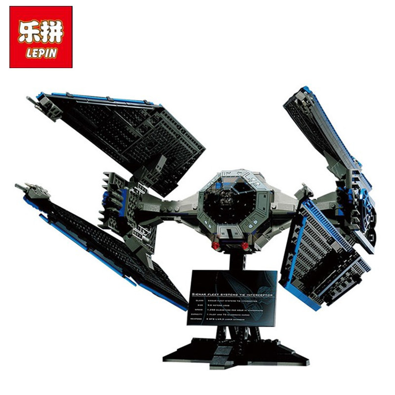 LEPIN 05044 703Pcs Star  Series Wars  Limited Edition The TIE Interceptor Building Kit Block Bricks Compatible With Lepin 7181 lepin 05035 star wars death star limited edition model building kit millenniums blocks puzzle compatible legoed 75159