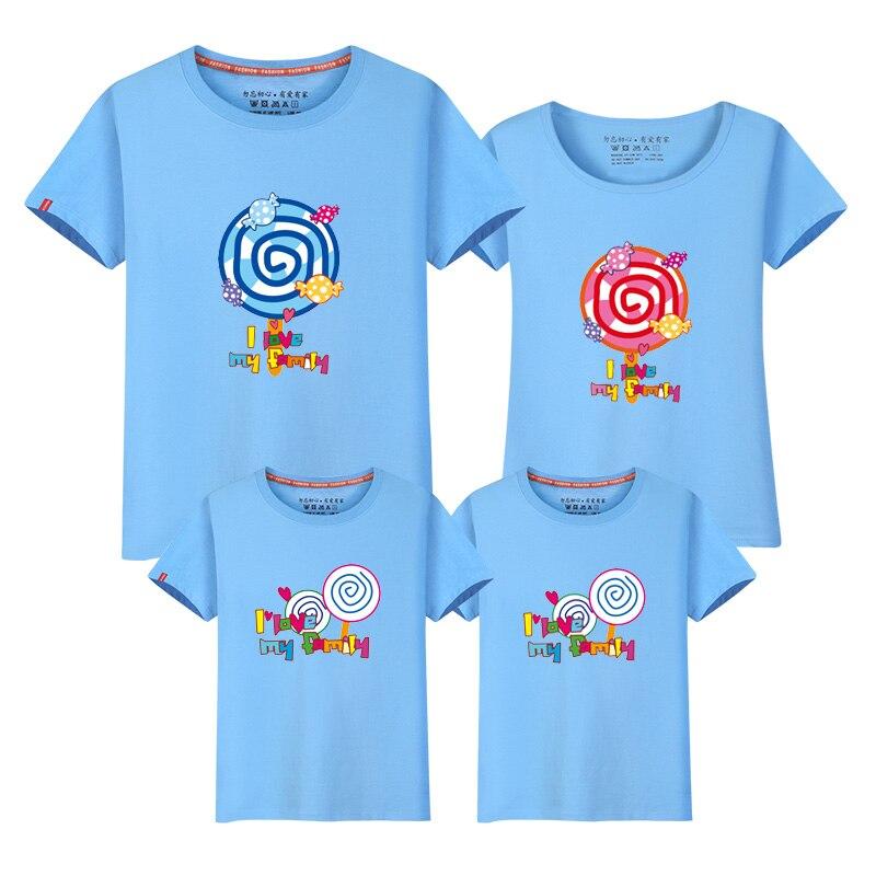Neue Familient-shirts Sommeroberseitenfamilienblickmuttervati-Baby, - Kinderkleidung - Foto 3