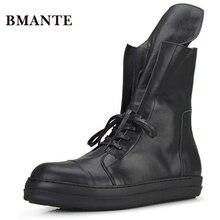 Модная Повседневная Брендовая обувь из натуральной кожи; черные мужские высокие теннисные высокие ботинки bambas Bieber; кроссовки; красовки для мужчин