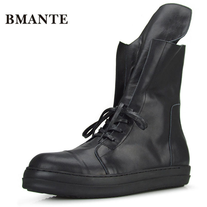 Real leather fashion casual brand footwear black male hightop tennis tall bambas Bieber High boot trainers shoe krasovki for men все цены