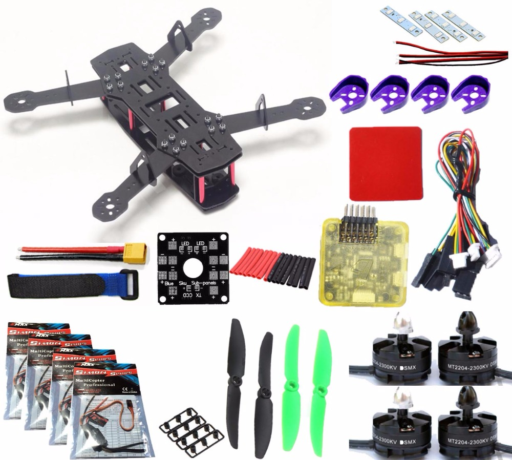 цена QAV250 Frame Quadcopter kit Mini 250 FPV RC Glass Fiber H250 Drone Frame Kit with Power Distribution Board pdb board for ZMR250