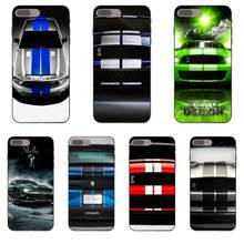 Para Apple iPhone X XS X Max XR 4 4S 5 5S SE 6 6 S 7 8 Plus TPU arte imprimir Ford Mustang Shelby(China)