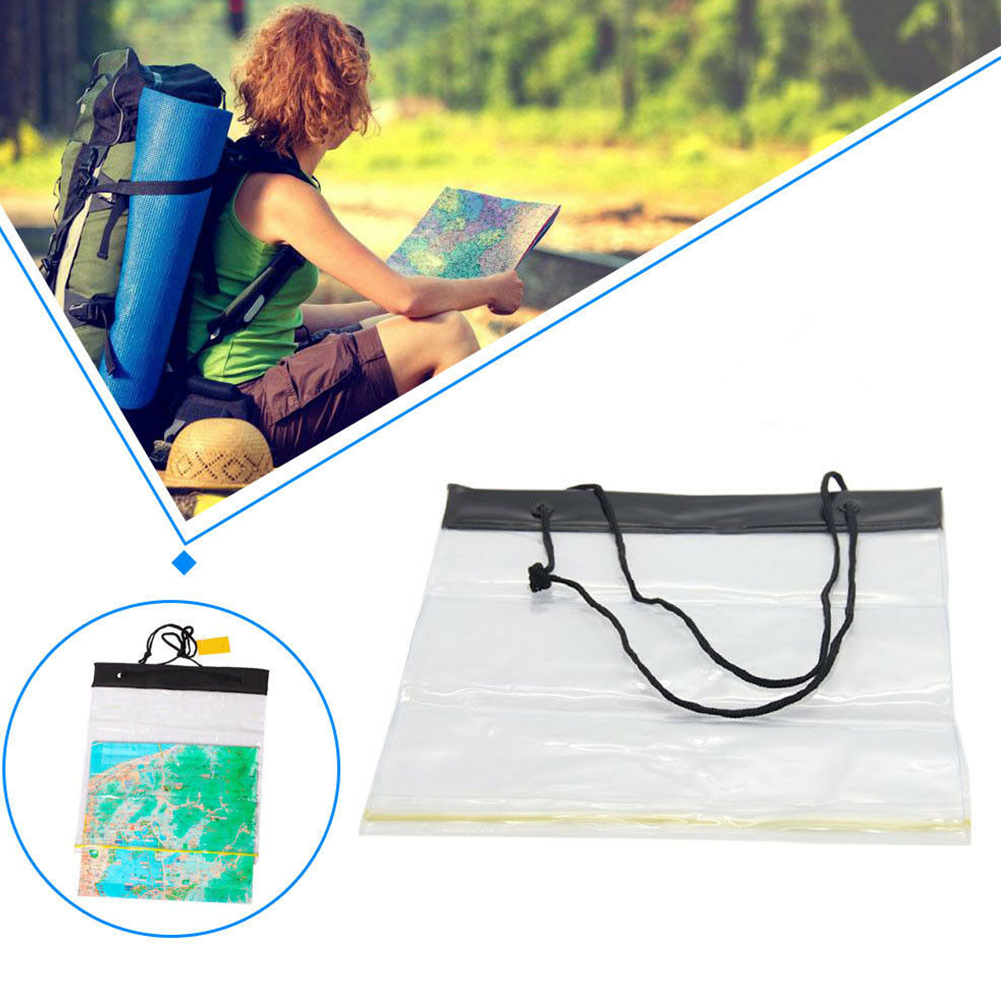 Lightweight Portable Multifunction Bag Clear PVC Camping Holder Pouch Map Cover Storage Outdoor Waterproof Hiking Case Dry