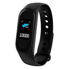 M3 IP65 wodoodporna Bluetooth inteligentny zespół sportowy pulsometr centrum Tracker inteligentna bransoletka podłączyć Android IOS cheap Passometer Fitness tracker Uśpienia tracker Wiadomość przypomnienie Przypomnienie połączeń Ciśnienie krwi Pomiaru prędkości