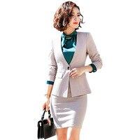 Fmasuth 5XL Large Size Business Ladies Skirt Suit Outfits 2 Pcs Set Ensemble Femme 2 Pieces Pantalon Set Blazer Skirt 863
