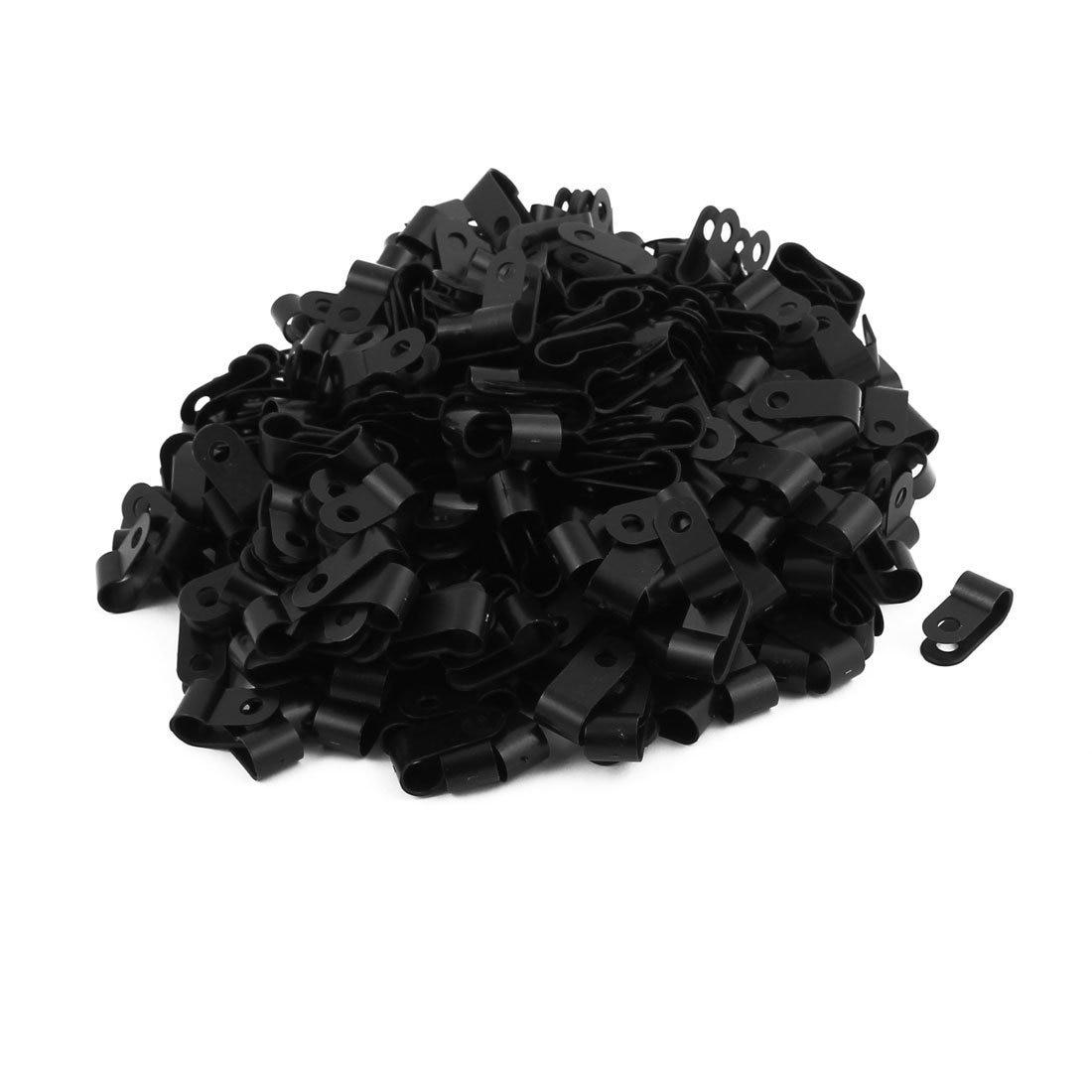 Vereinigt 400 Pcs Nylon R Typ 1/4 Zoll 6,4mm Kabel Draht Clamp Clip Verschluss Schwarz Online Shop Zwischenablage Notebooks & Schreibblöcke