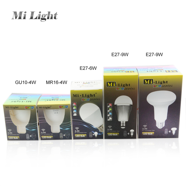 LED Smart Mi Light E27 GU10 MR16 RGB Bulb Lamp 2 4G Wireless Lampada