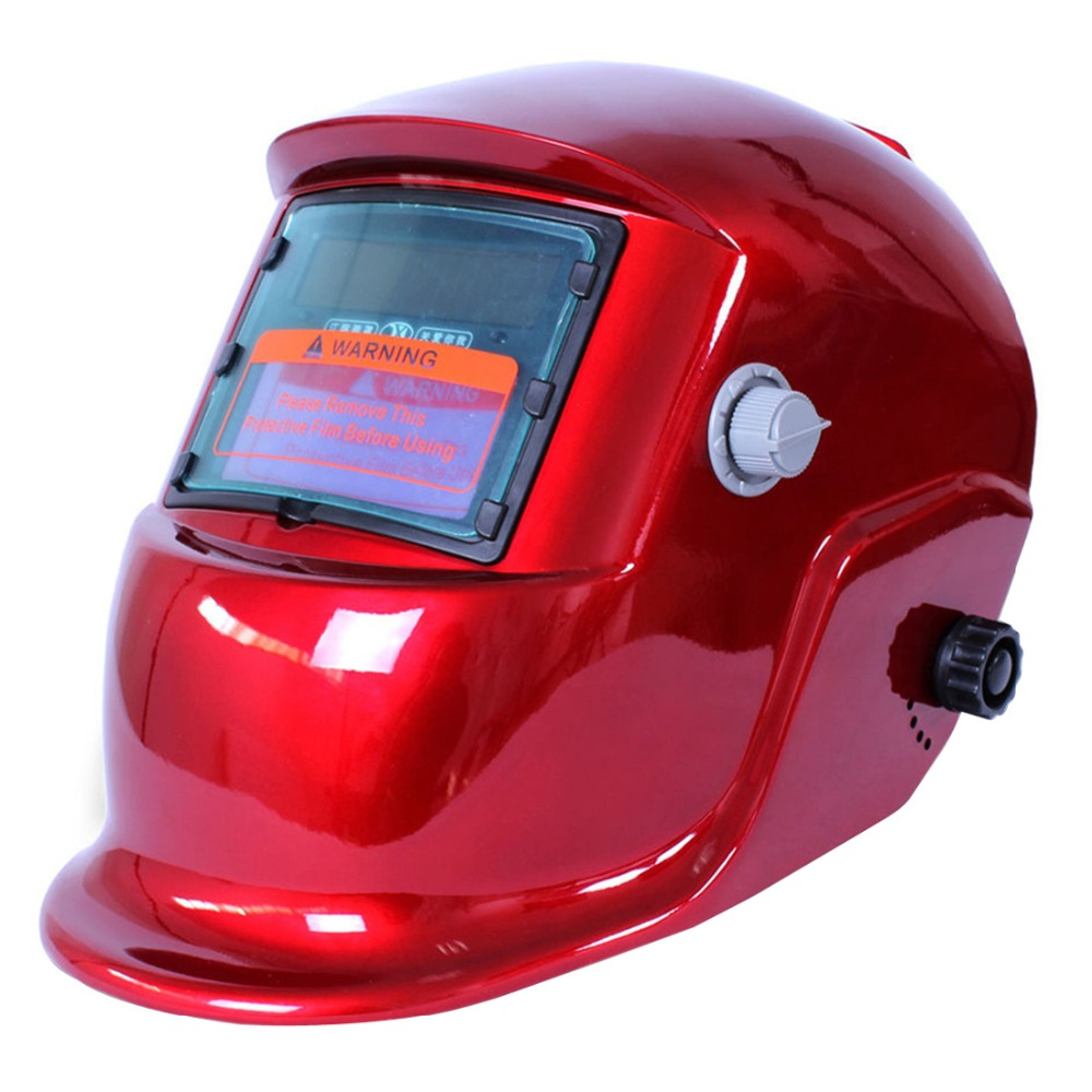 Red Cover Auto Darkening Solar Welders Welding Helmet Mask with Grinding Function Ideal for ARC/MIG/TIG/Stick Welding  цены