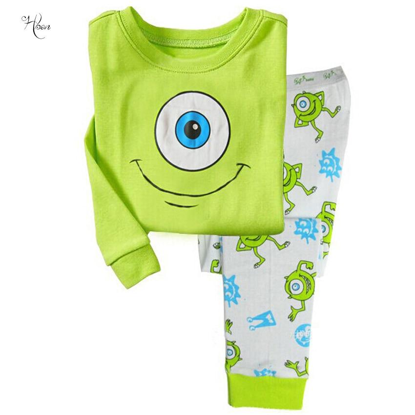 2017 Kids Bathing Suit Clothing Boy Girl Pajama Tops Children Cartoon Long Pajamas Recreational Household Children's Sleepwear