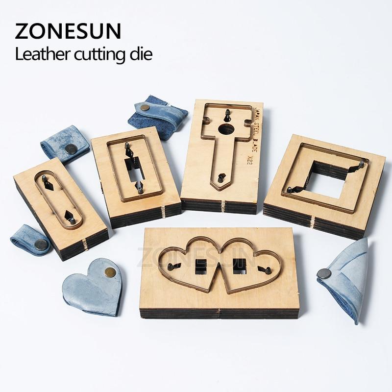 ZONESUN bricolage écouteur cordon gardien en cuir cordon organisateur Earbud titulaire coupe Die pour Machine de découpe artisanat Cutter - 5