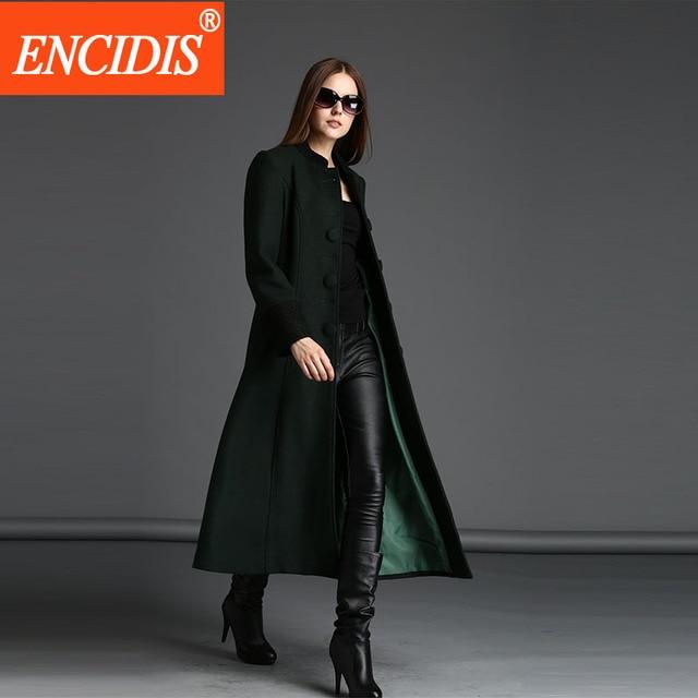 Mulheres Trench Coat 6 Cores Europeia 2016 Nova Inverno e Outono Outerwear Casual Senhora Casacos Longos Blusão Sólida Saia F125