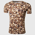 Men Military T Shirts Camouflage Slim Tee Shirts Short Sleeve Army O Neck Tops Fatigue Wear Street Print Clothes