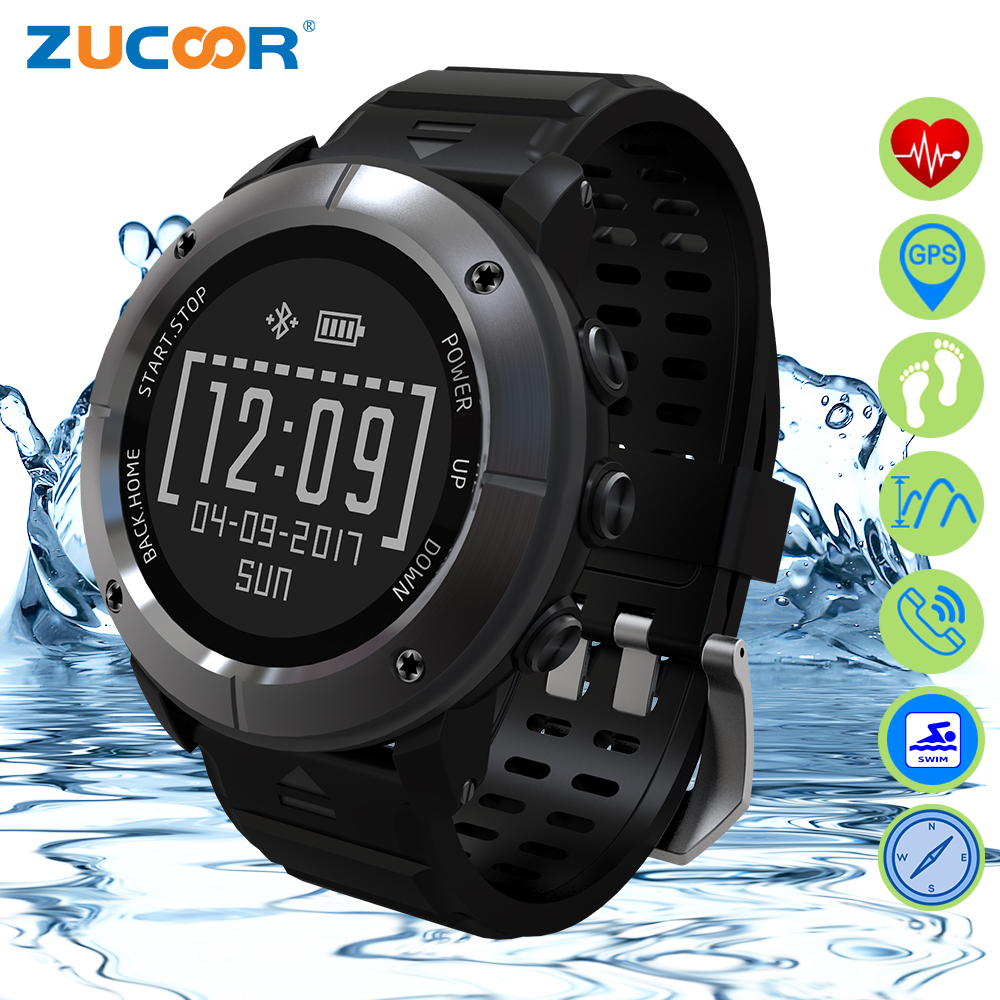 ZUCOOR Smart Watch With Pulse Monitor Pedometer RW65 Fitness Orologio GPS Tracker Men's Heart Rate For iOS Android Smartphone u80 smart watch with pedometer function