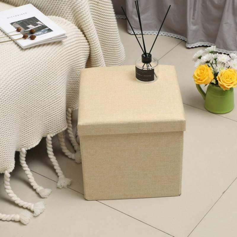 Couleur Pure enfants pliant Lidded boîte de rangement anti-poussière organisateur Cube panier organisateur pour enfants jouets vêtements livres bureau