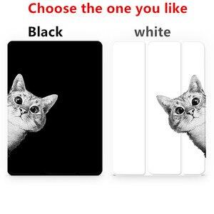 Image 3 - Czarny kot przerzuć pokrywa dla iPad Pro 9.7 przez 11 10.5 12.9 10.2 2020 Mini 2 3 4 5 2019 Tablet etui dla nowego ipada 9.7 6th 2017 2018