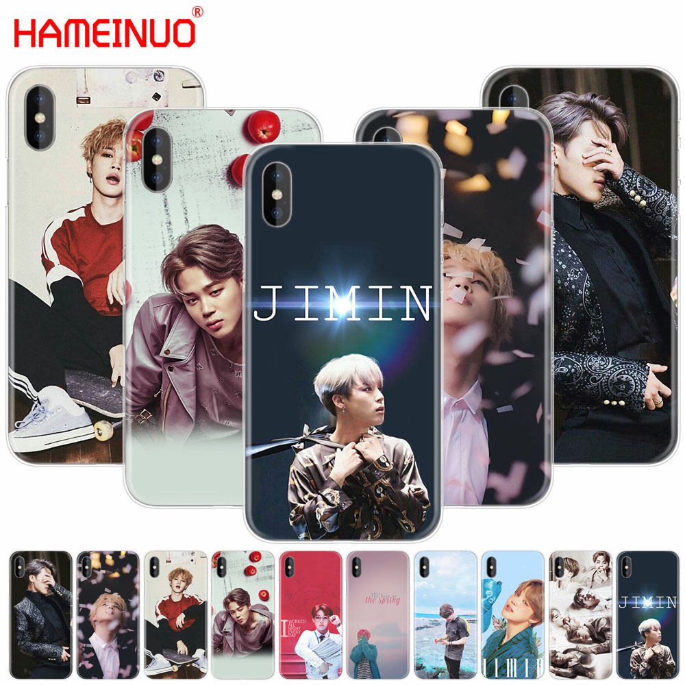 HAMEINUO BTS Bangtan Boys JIMIN cell phone Cover case for iphone X 8 7 6 4 4s 5 5s SE 5c 6s plus