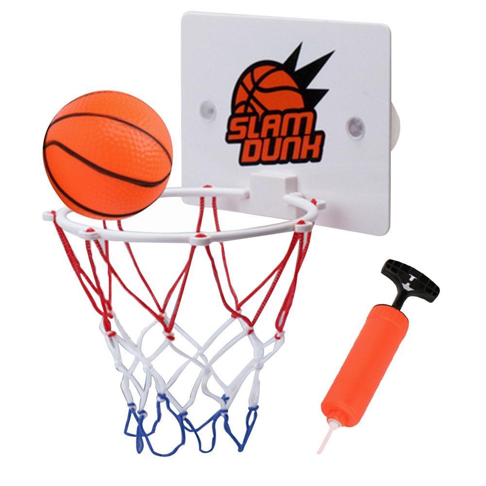 Alomejor Indoor Mini Basketball System Backboard Hoop Kit Door Wall Mounted Kids Toy Set