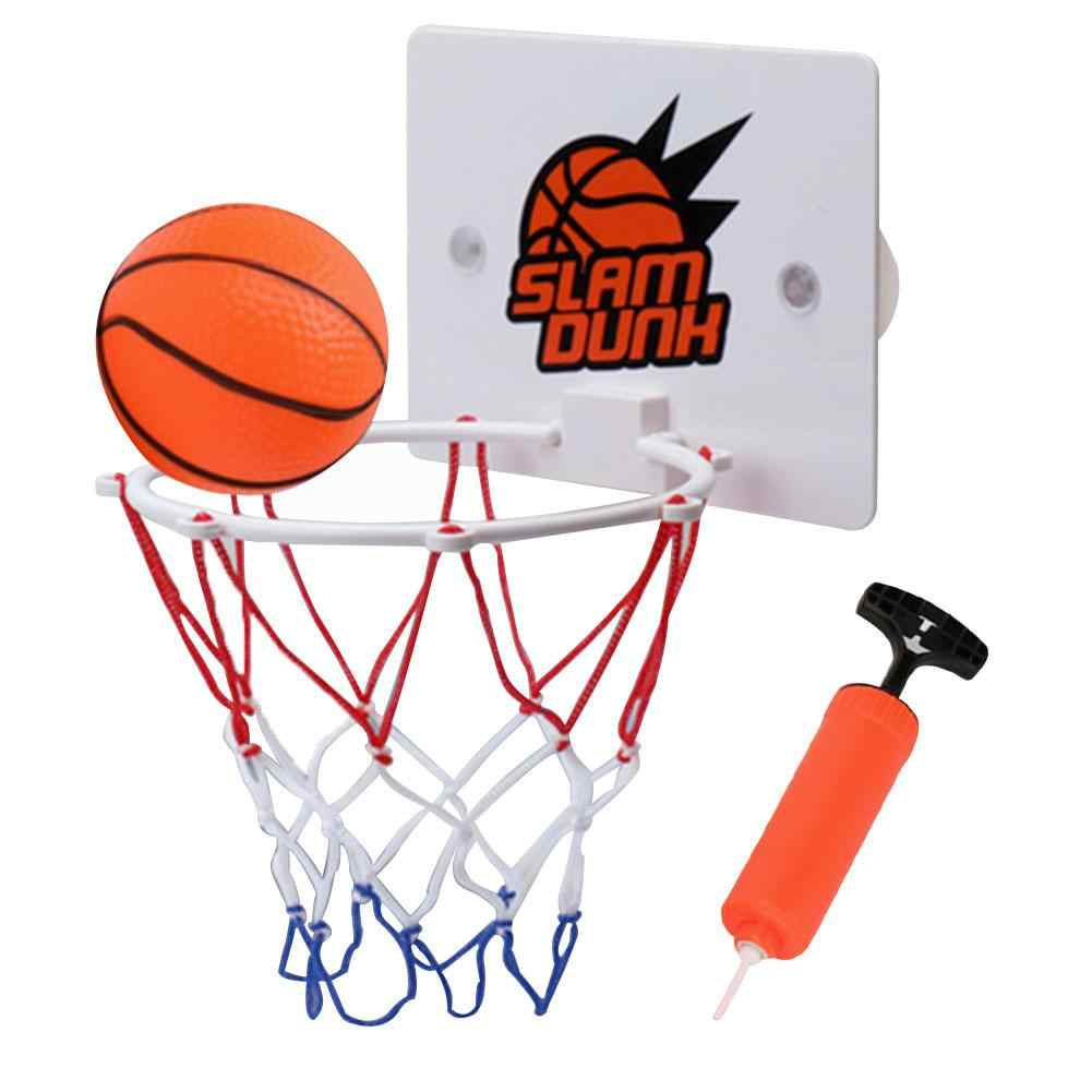 63c027946a5 ... 3pcs set Children Kids Mini Basketball Hoop Toys Suck Wall-mounted  Stand +pump ...