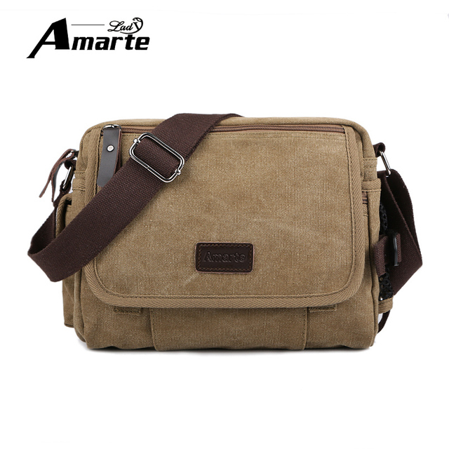 8ca7e29a3d5 Fashion Men s Shoulder Bag Canvas Men Crossbody Bag 2017 Casual Male  Messenger Bags Ipad Travel Single Shoulder Bag