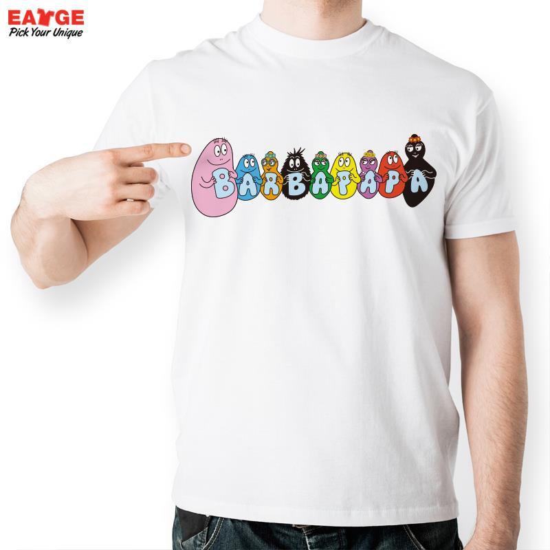 Barbapapa Family Holding Alphabet T Shirt Design Casual Novelty Funny Tshirt Men Women Print Style Cool Fashion Tee