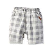 2019 Kids Summer Plaid Print Short Pants Trousers Children Cotten Casual Pants for baby boys loose shorts 2 to 8 Years Old(China)
