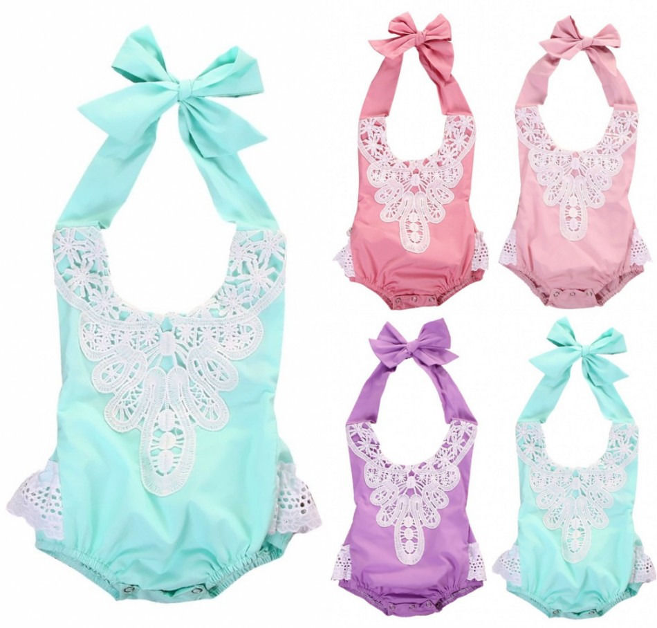 Naujagimių kūdikių kūdikių mergaičių nėrinių gėlių - Kūdikių drabužiai - Nuotrauka 4
