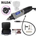 Minitaladro giratorio HILDA 400 W Mini Molinillo Eléctrico de velocidad Variable estilo Dremel con eje Flexible y accesorios