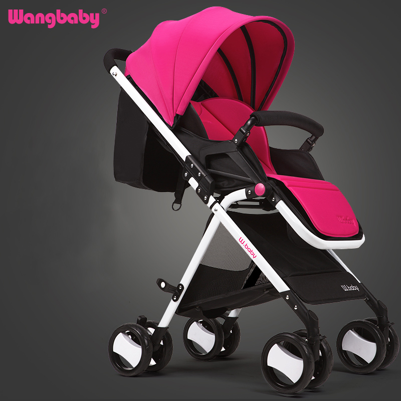 Wangbaby high landscape baby stroller can sit lying ultra portable folding umbrella car summer baby baby stroller