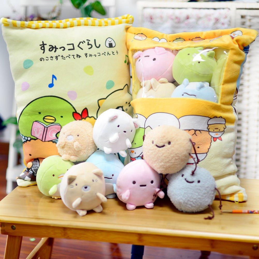 Bag of Melody Unicorn Pom Sumikko Gurashi Plush San-X Anime Figure Doll Creative Cushion Pillow Present Valentine's Day Gift