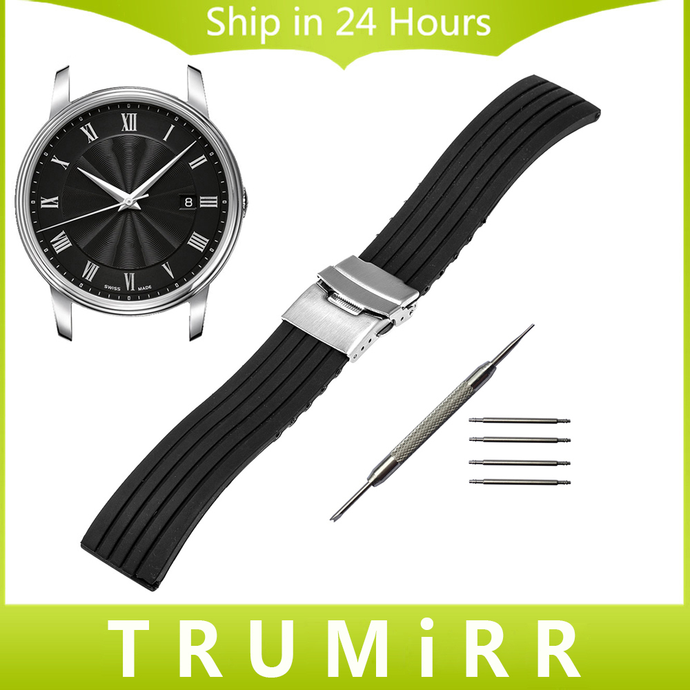 Silicone Rubber Watch Band for Mido Baroncelli Multifort Men Women Wrist Strap Bracelet Black 17mm 18mm 19mm 20mm 21mm 22mm 23mm eache silicone watch band strap replacement watch band can fit for swatch 17mm 19mm men women